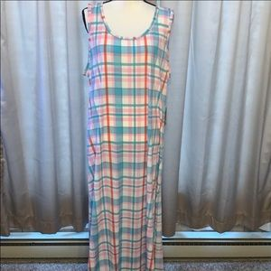 3XL LuLaRoe Dani Sleeveless Maxi Dress